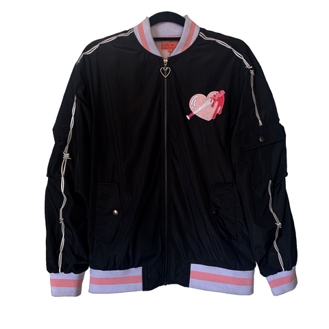 Girl Gang Embroidered Bomber Jacket