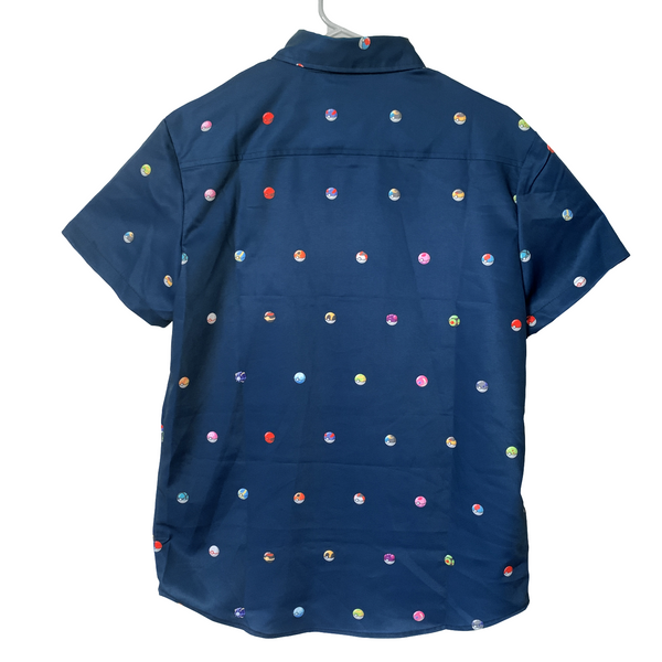 Pokeball Button Up Shirt Dark Variant
