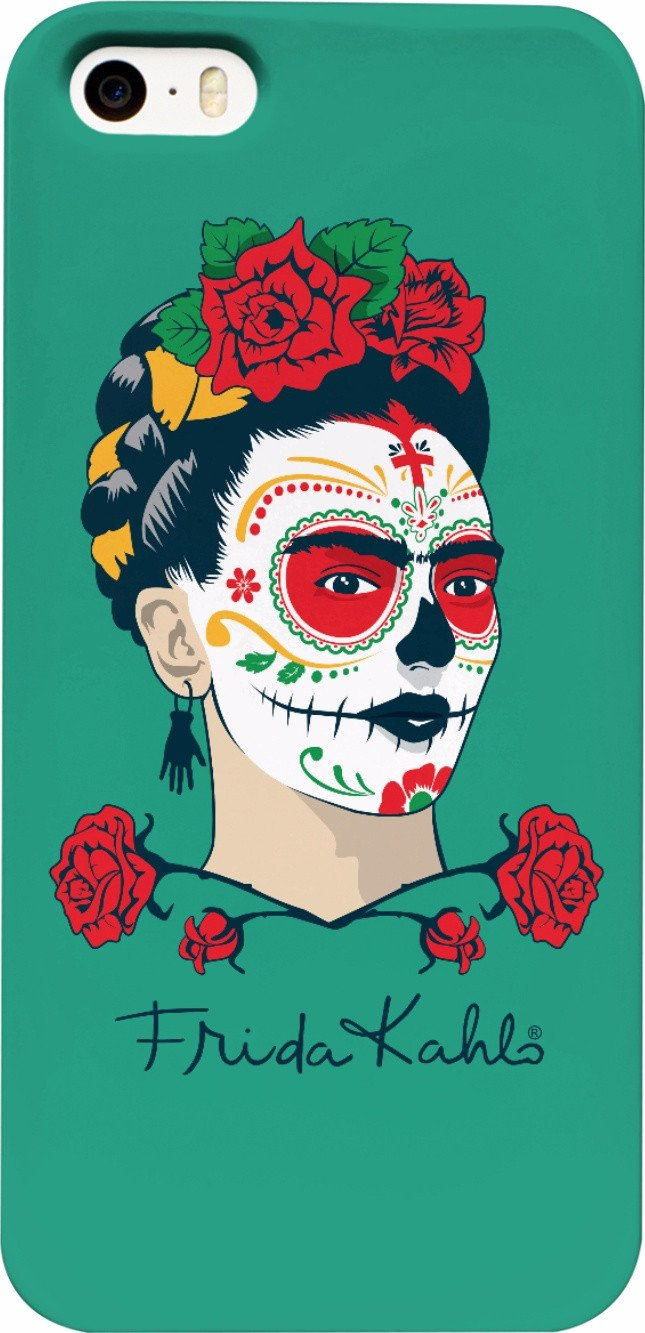 Frida Kahlo Sugar Skull Green Phone Case