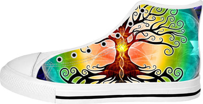 Tree of Life White High Tops