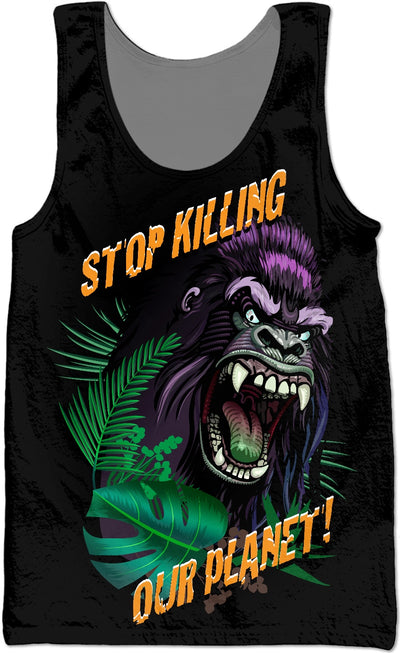 Stop Killing Our Planet Custom Tank Top