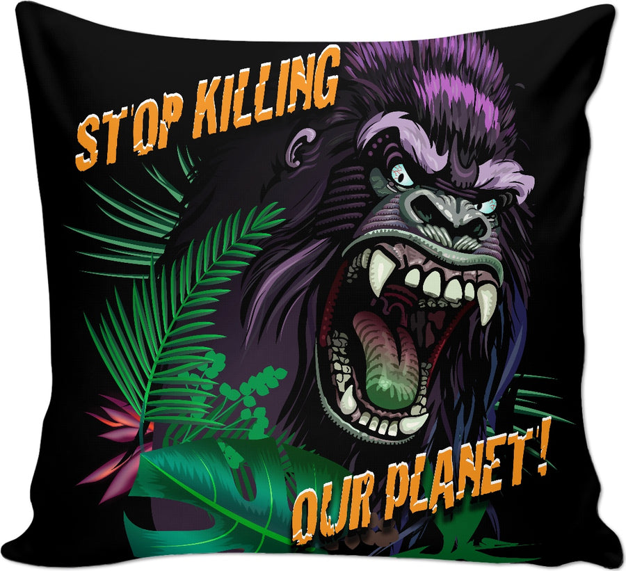 Stop Killing Our Planet Custom Couch Pillow
