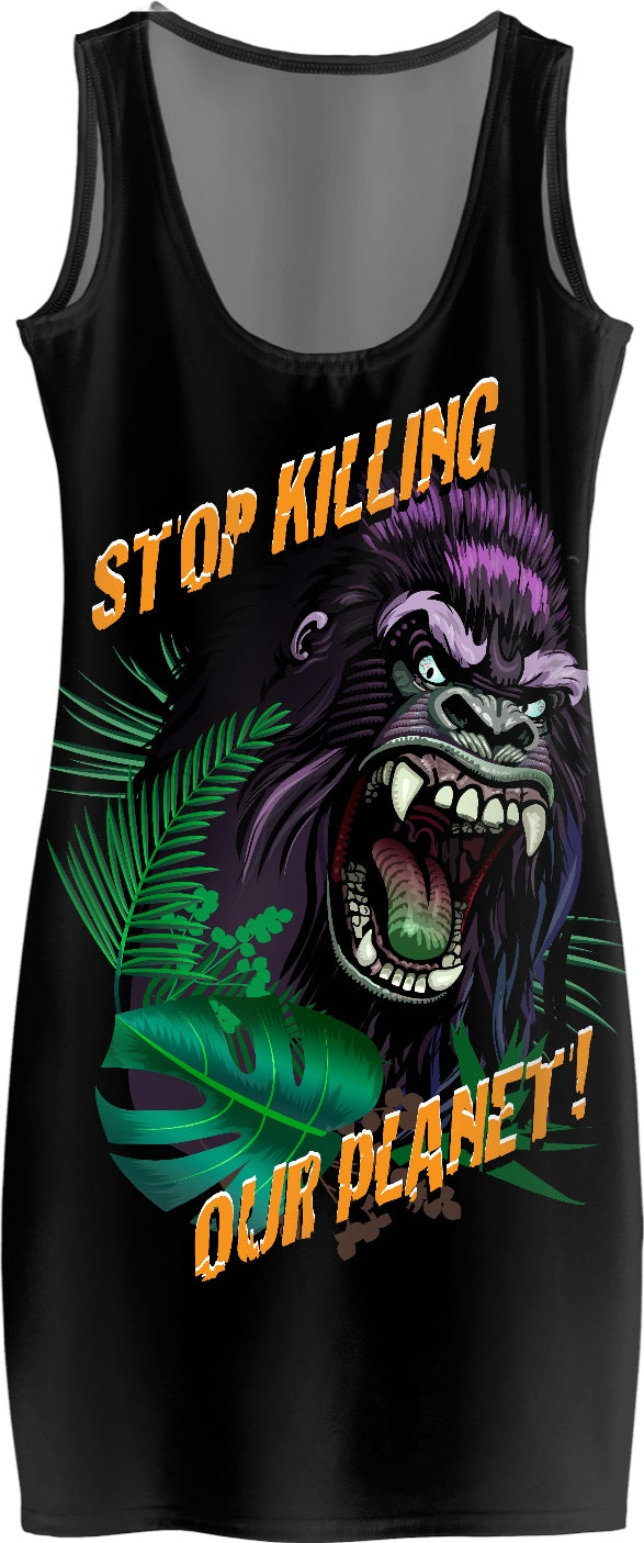 Stop Killing Our Planet Custom Simple Dress