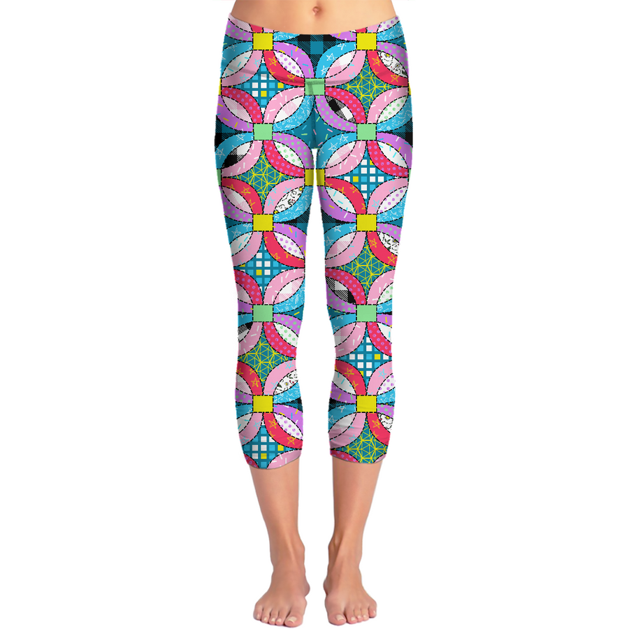 wedding ring quilt yoga pants