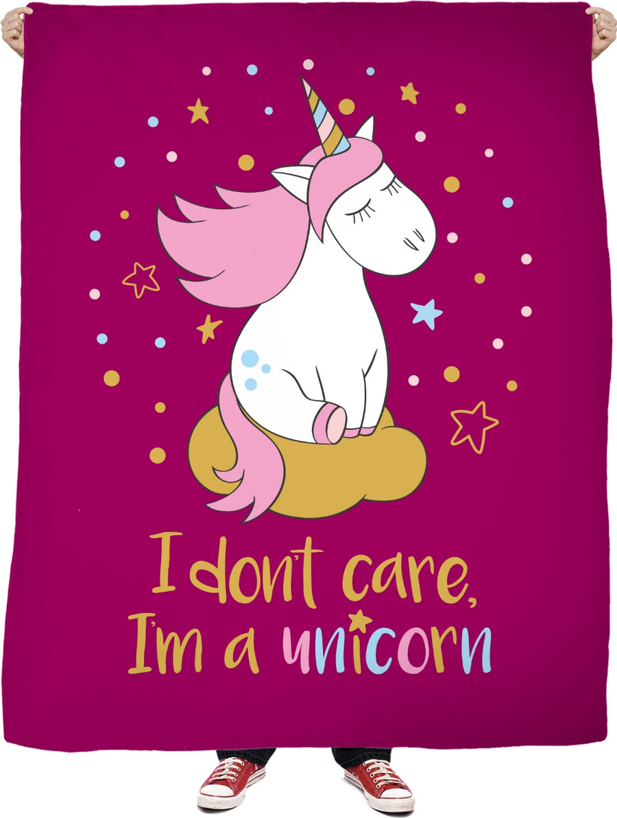 I Don't Care I'm A Unicorn - Fleece Blanket