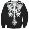 cracked skeleton sweater (front and back)