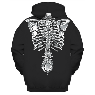 cracked skeleton hoodie front and back