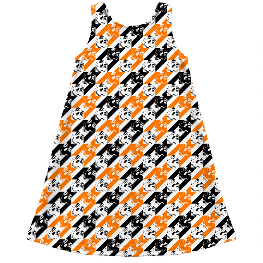 halloween houndstooth of the kids dress