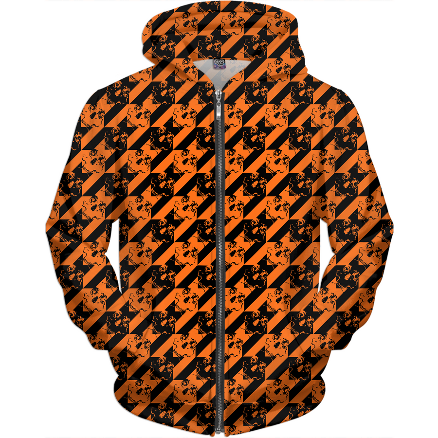 halloween houndstooth of the dead kids hoodie