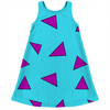 cartoon wallaby triangle pattern kids dress