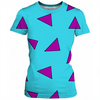 cartoon wallaby triangle pattern ladies tee