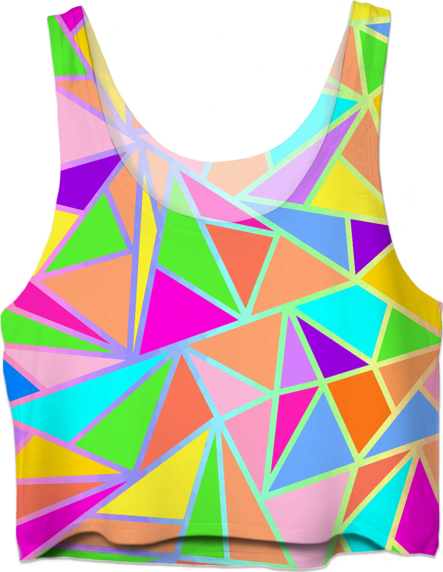 Vibrant Geometric Crop Top