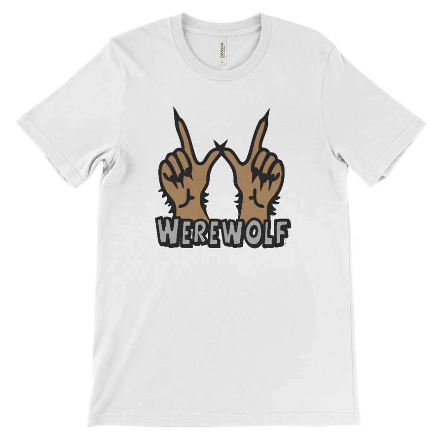 Werewolf Sign Halloween T-Shirt