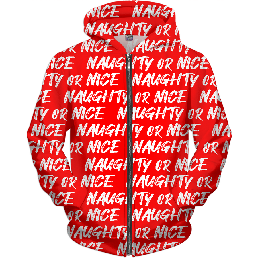 Naughty or Nice ugly Christmas kids hoodie