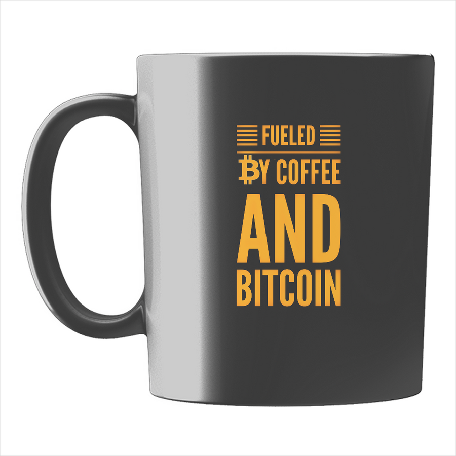 Fueled by Coffee and Bitcoin Ceramic Coffee Mug