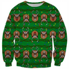 santa's reindeer trophys ugly christmas sweater