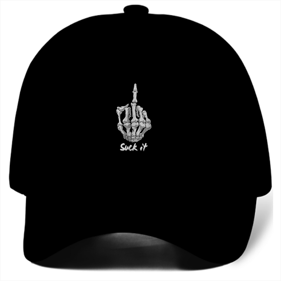 Suck It Middle Finger Dad Hat (Black)