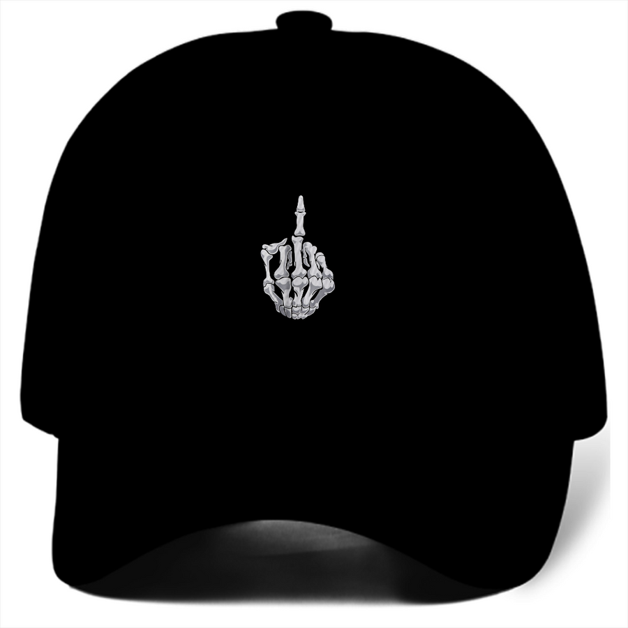 Middle Finger Dad Hat (Black)