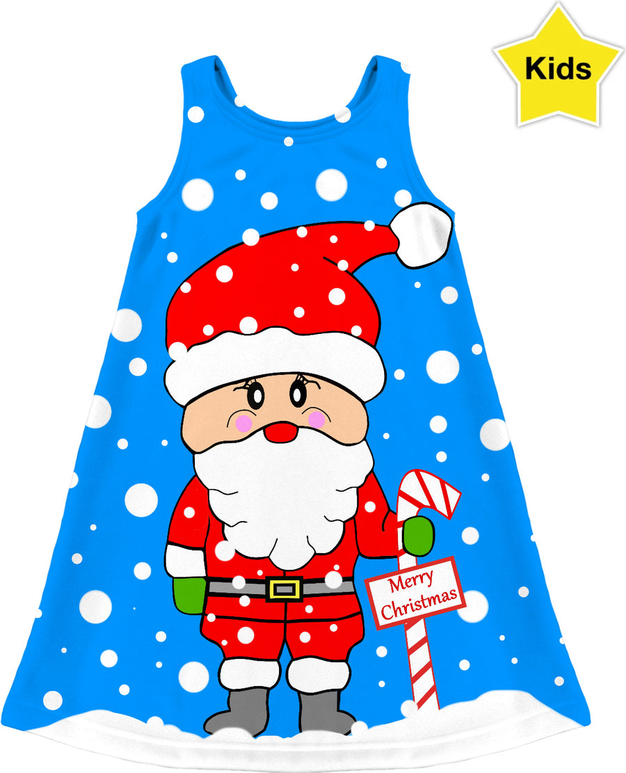 Merry Christmas Santa Kids Dress