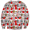 Christmas sphynx (naked cat) ugly christmas kids sweater