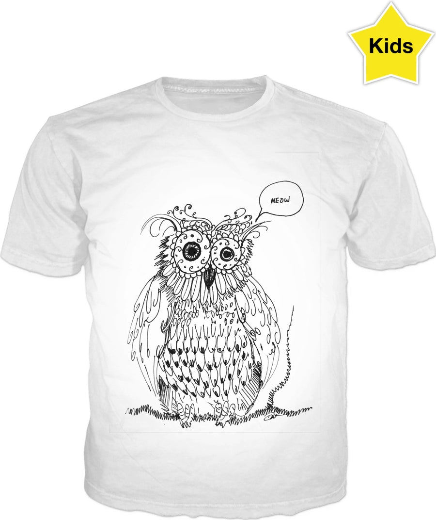Meowl Owl Kid's Tee