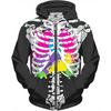 colorful guts skeleton hoodie
