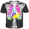 colorful guts skeleton kids tee