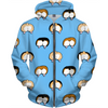 corgi butt polka dot on blue kids hoodie