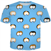 corgi butt polka dot on blue kids tee