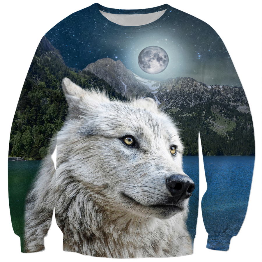 White Wolf and Moonlight Sweatshirt