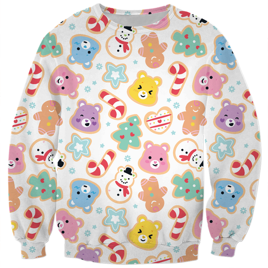 Care Bears Christmas Pattern Sweatshirt