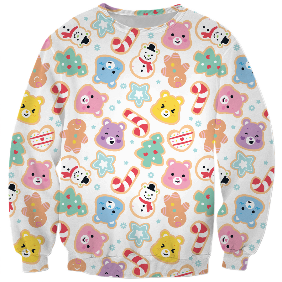 Care Bears Christmas Cookies Pattern Kids Sweatshirt