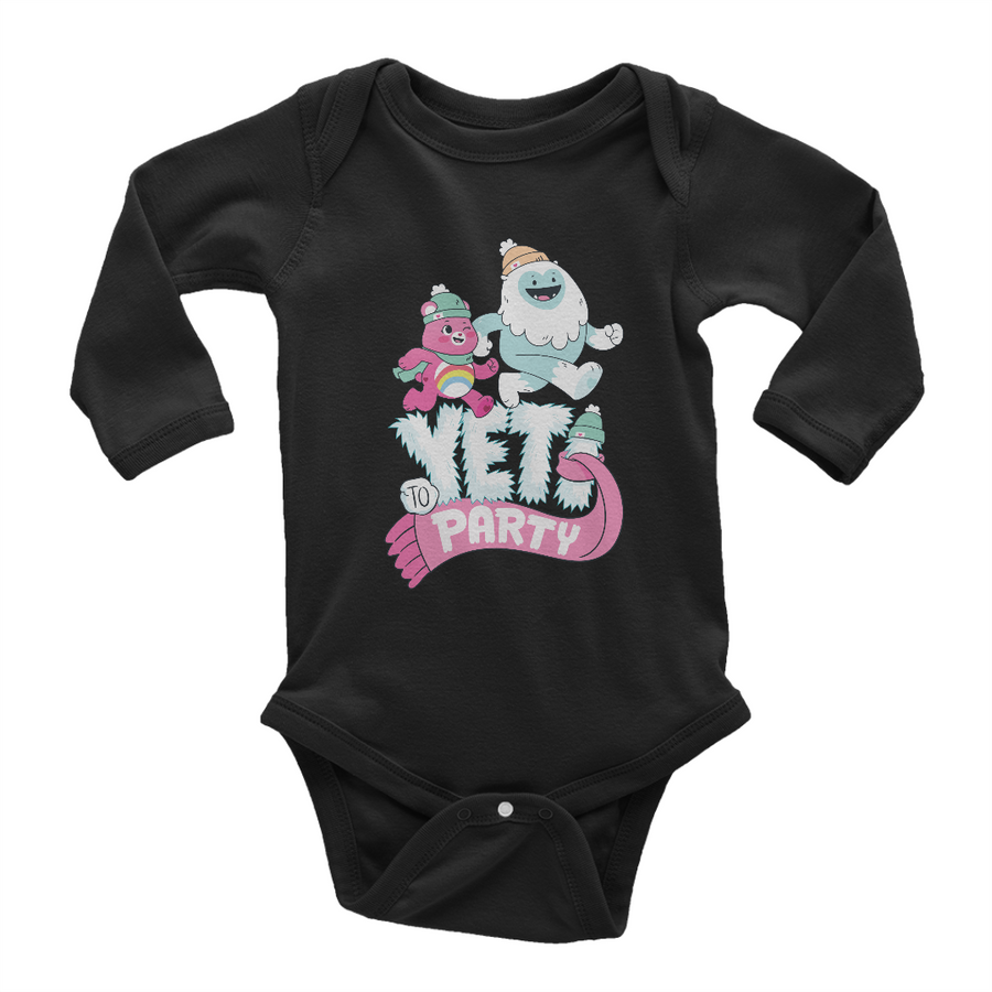 Care Bears Yeti to Party Long Sleeve Baby Onesie