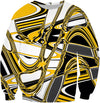 Retro 70s Groovy Yellow Pattern Sweatshirt
