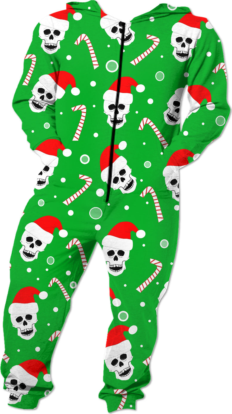 Skulls And Candy Canes Onesie