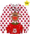 Ugly Christmas Sweater For Reindeers Kids Sweatshirt