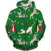 christmas sphynx (naked cat) ugly sweater kids hoodie