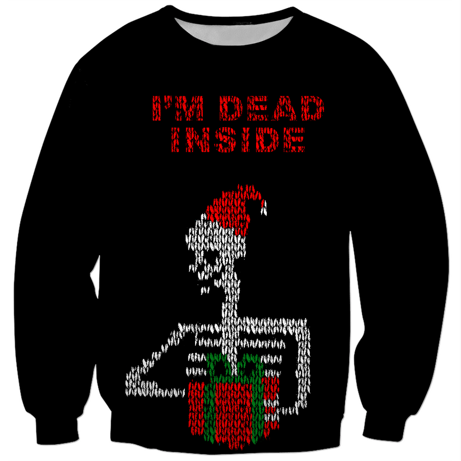 i'm Dead Inside ugly Christmas sweater design