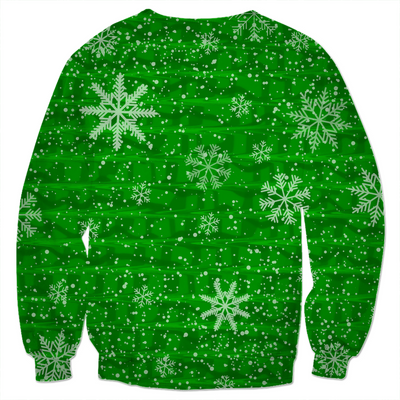 Green Snowflake Holiday Sweater