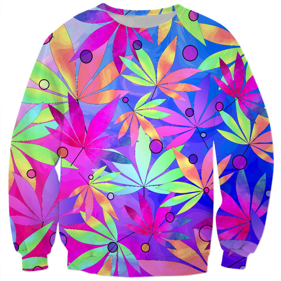 Whimsical Weed Sweatshirt