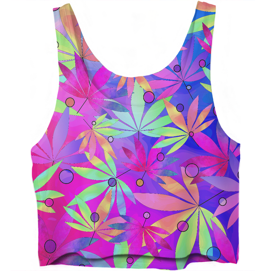 Whimsical Weed Crop Top