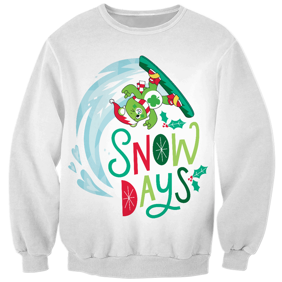 Care Bears Snow Days Christmas Kids Sweatshirt