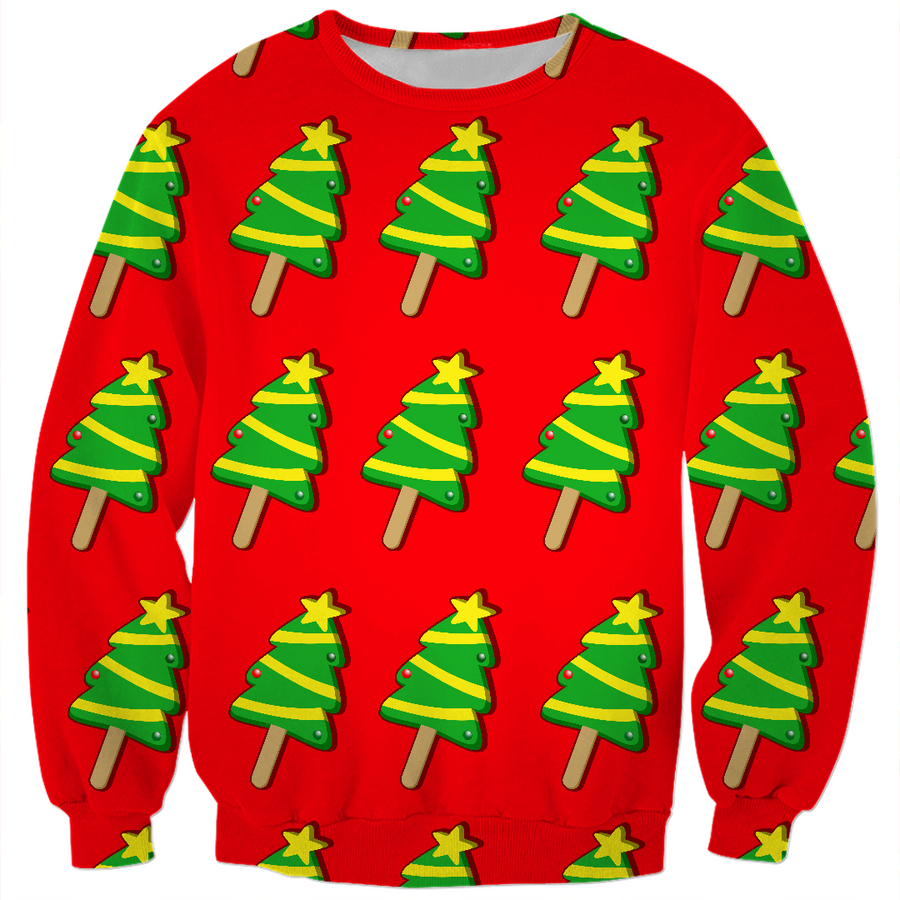 christmas tree ice cream kids ugly Christmas sweater