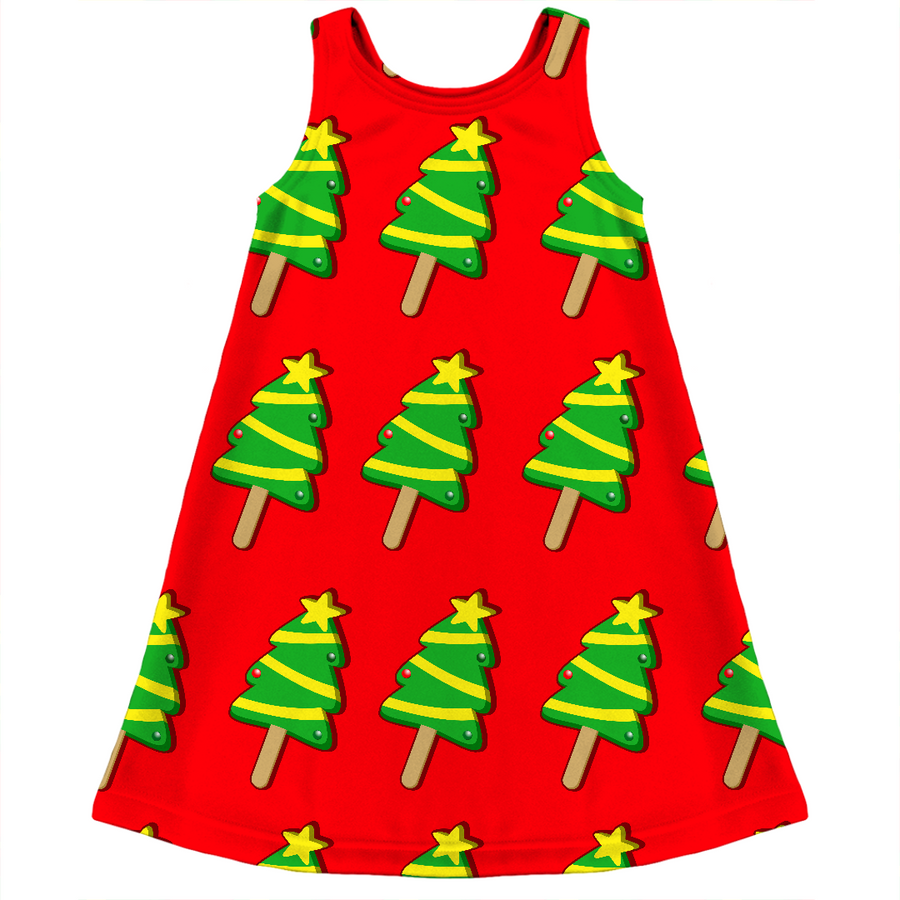 christmas tree ice cream ugly Christmas kids dress