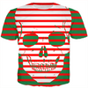 striped skull kids ugly Christmas tee