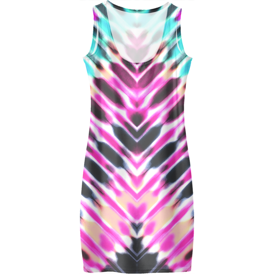 Digital tie-dye vaporware Dresses