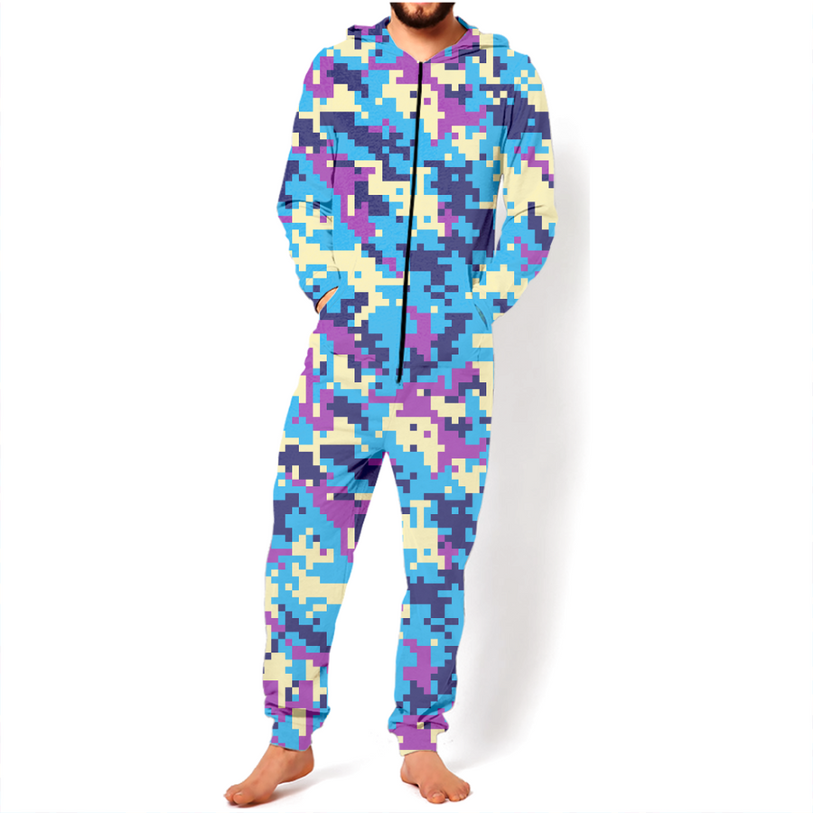 Unicorn World Modern Fashion Pixel-Camouflage Unisex Onesies