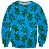 mistletoe on blue ugly Christmas kids sweater