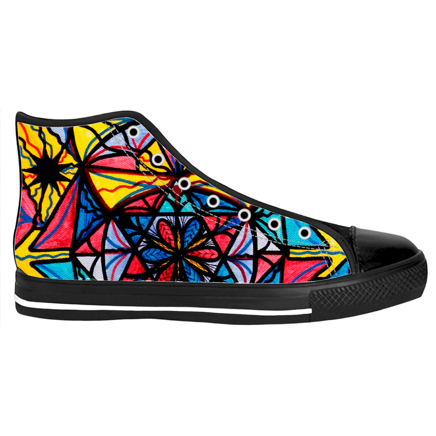 Open To The Joy of Being Here - Women's High Tops Shoes
