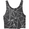 Geometric Black And Silver Crop Top